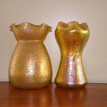 Art Nouveau Loetz Candia Mimosa Golden Iridescent Vase Series II, 1908