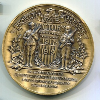 Orange County California Medal