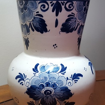 Delft Blue Vase - Art Pottery
