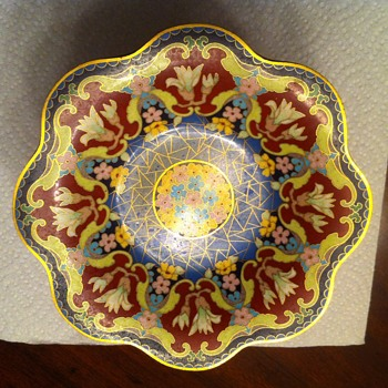 Pedestal Enameled Compote Candy Dish - Kitchen