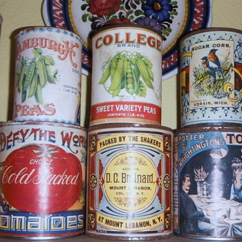 late 1800&#039;s / Early 1900&#039;s Food Tins