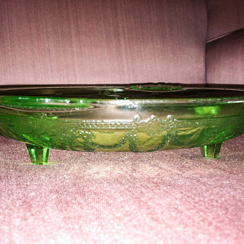 Fancy green relish dish - I think?!?! - Glassware