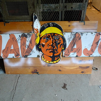 Navajo Freight Truck Sign. - Signs