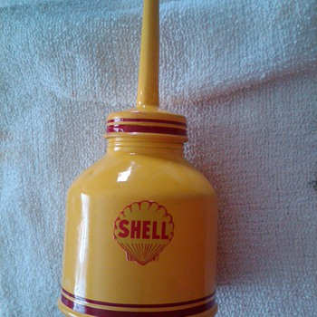 James' *Shell* oil can