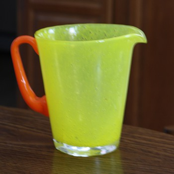 Eye Catching Pitcher - Art Glass
