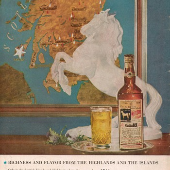 1954 White Horse Scotch Advertisement 2 - Advertising