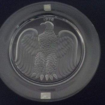Bicentennial Lalique Eagle Plate - Art Glass