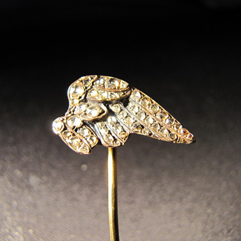 Diamond studded Eagle wing stick pin.  - Fine Jewelry