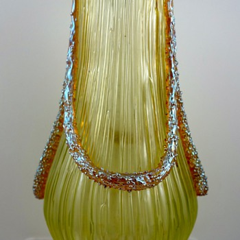 Loetz Empire, gelb Texas mit Silber, PN II-2580, ca. 1905 - Art Glass