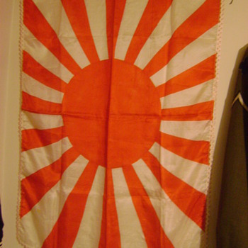 WWII Japanese Rising Sun Banner - Military and Wartime