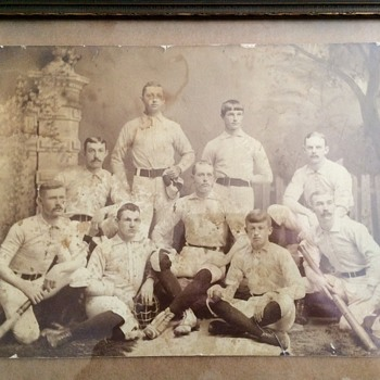 Turn of the century baseball team photo