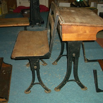 found school desks with American Screw box