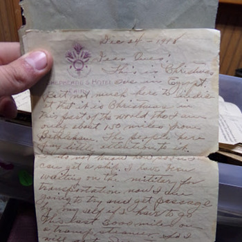 Christmas Away From Home: A WW1 Letter