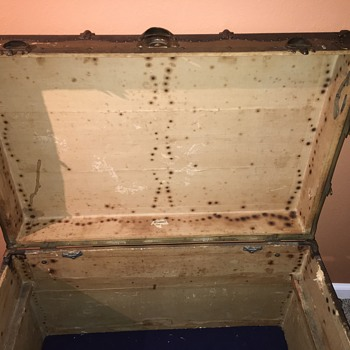 Old steamer chest