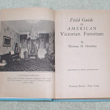 1952 Guide to American Victorian Furniture - Books