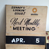 "Sunshine Premium Beer ""Monthly Meeting"" Sign"