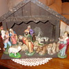 west germany paper mache nativity scene
