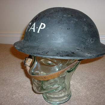 WW11 Civilian F.A.P. (First Aid Party) plasfort (plastic fibre) helmet.