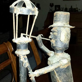The Lamplighter - Folk Art