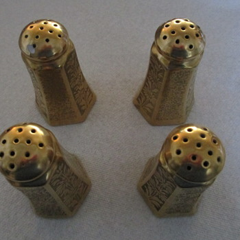 Gold Encrusted Salt & Pepper Shakers