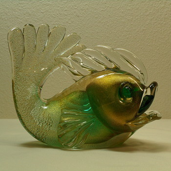 Murano Archimede Seguso Fish - Aventurine - 1950's - Post 1 of 3
