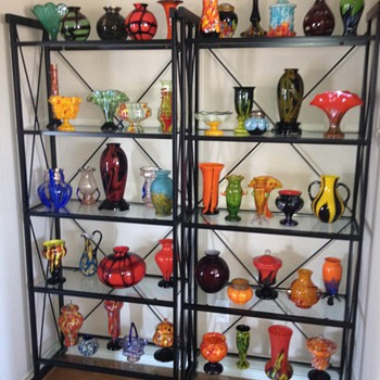 Czech Deco Exported Glass Collection On Display...  some of it anyway :) - Art Glass