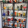 Czech Deco Exported Glass Collection On Display...  some of it anyway :)