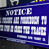 Interborough Rapid Transit Company IRT Subway Porcelain Sign