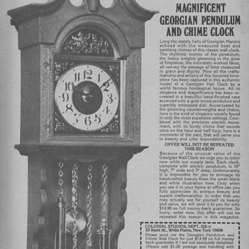 1971 Pendulum Wall Clock Advertisement
