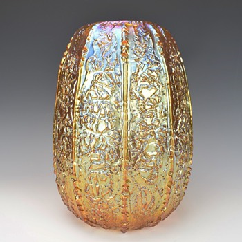DURAND GOLDEN LUSTER MOORISH CRACKLE VASE