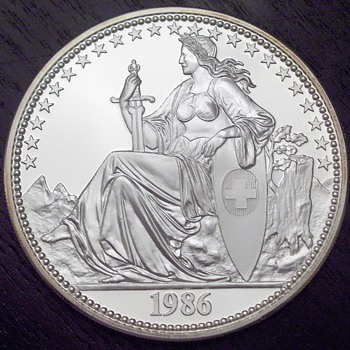 Swiss Helvetia in .999 silver and Gold - World Coins