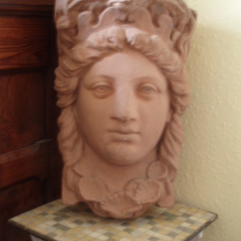 Terracotta Head - Maybe Neptune's Wife?  Help!
