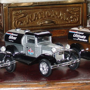 Amoco Truck Banks...In Three Grades Of Gas...Blue, Silver and Gold  - Model Cars
