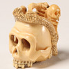 Interesting Japanese Skull Netsuke & More