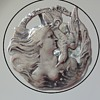 Art Nouveau Sterling Silver Brooch  Pendant Lady with Bird