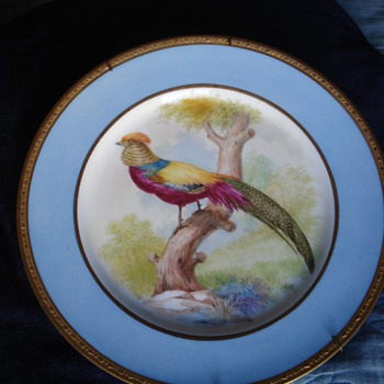 Pair of hand painted bird plates Pirkenhamer decorated by Ernst Wahliss - China and Dinnerware