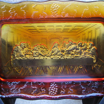 The Lords Supper in carnival glass