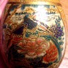 Oriental Moriage Vintage Artsy Decorated Ceramic (?) EGG!