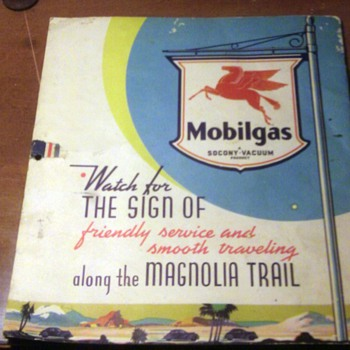 Antique 1937 Mobilgas Calendar  - Petroliana