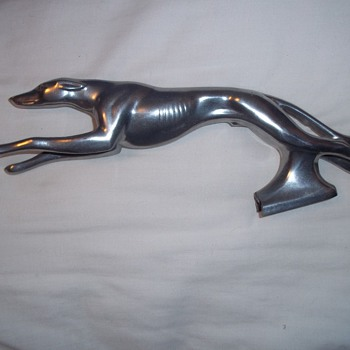 Hood ornament - greyhound dog
