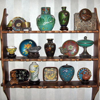 Collection Small Items 3 Tier Wall Shelf - Asian
