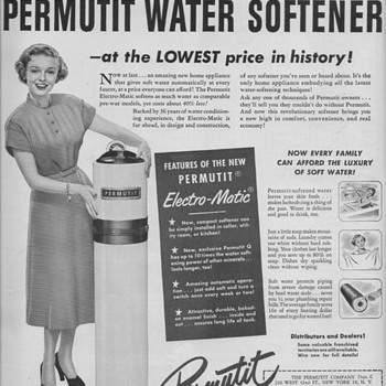 1950 Permutit Water Softener Advertisement - Advertising