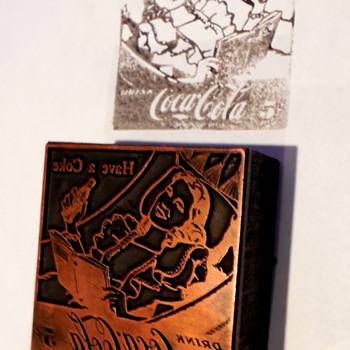 c. 1950 Coca-Cola Ad Letterpress Cut