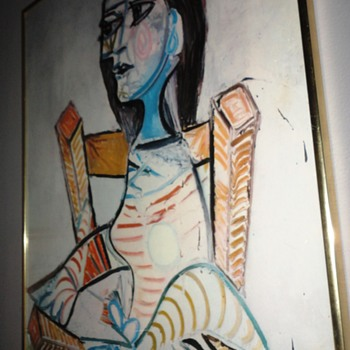 Abstract Woman in Chair - Visual Art