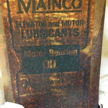 Mainco Elevator & Motor Lubricants - Motor Bearing Oil - Petroliana
