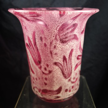 Rare Loetz Pink Campanula, ca. 1936 - Art Glass