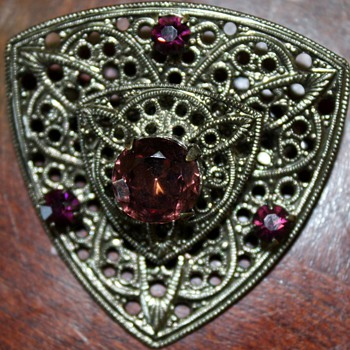 This brooch is another question mark.  It is so pretty and I would like to start wearing it. - Costume Jewelry
