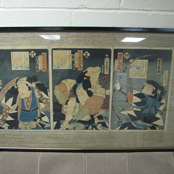 Two Japenese Wood Block Prints - Asian