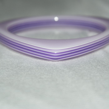 Laminated Purple Lucite Bangel