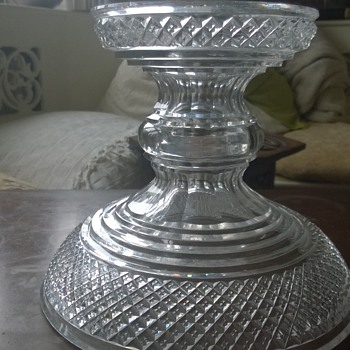 Glass dish/stand with mystery central hole